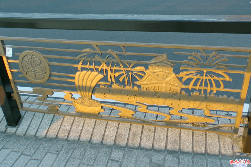 殿橋のレリーフ
