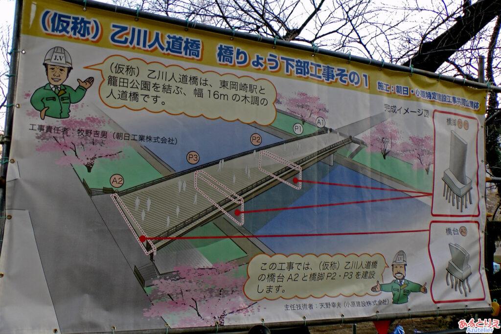 人道橋建設中です