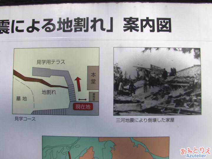三河地震により倒壊した家屋