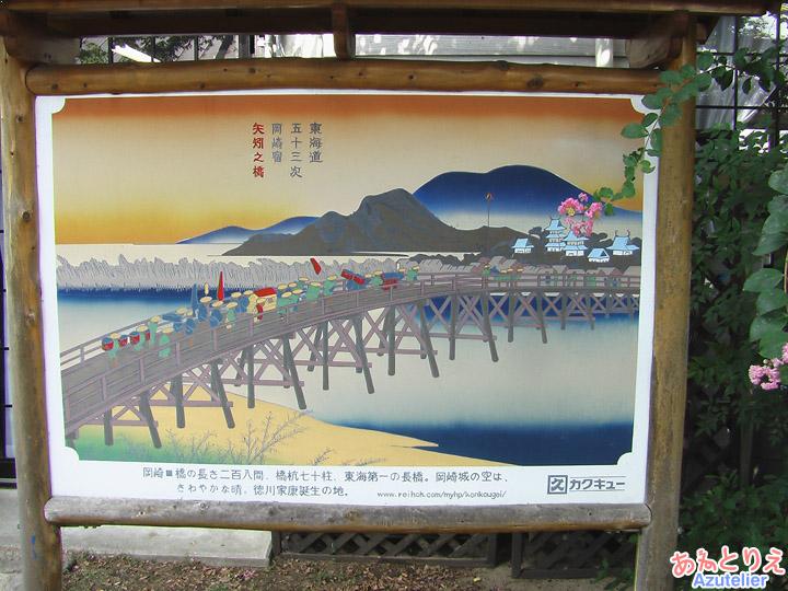 矢作橋の看板