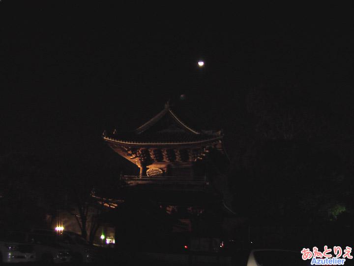 大樹寺三門ライトアップ