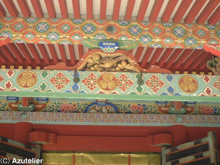 東照宮拝殿の彫刻