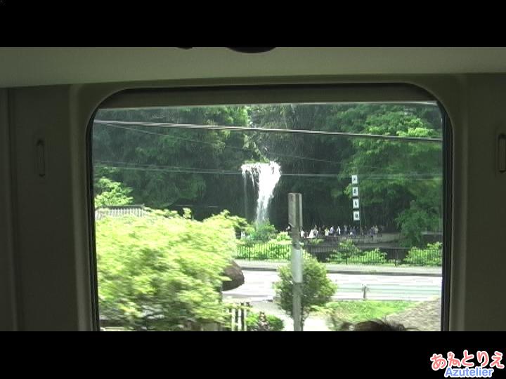 車窓、慈恩の滝