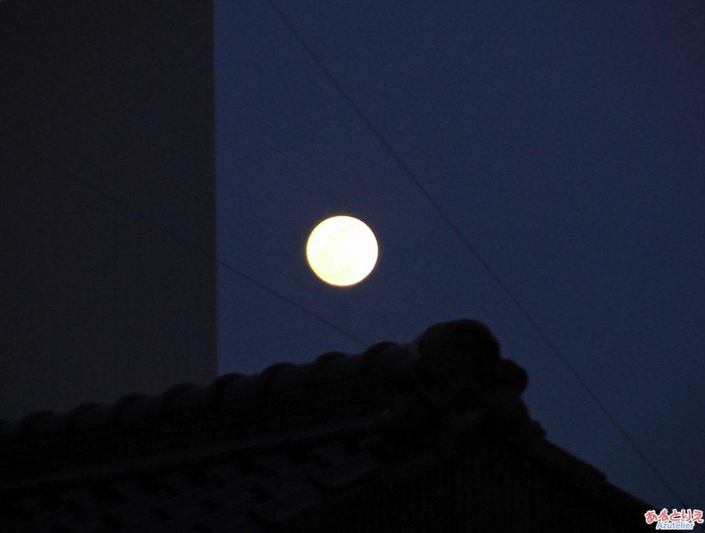 満月でした
