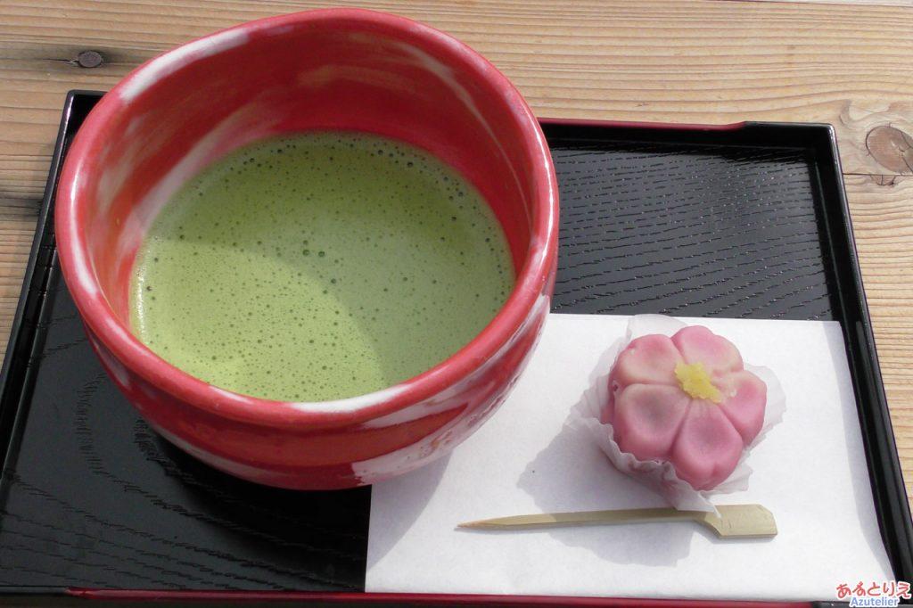 奥山田でのお抹茶
