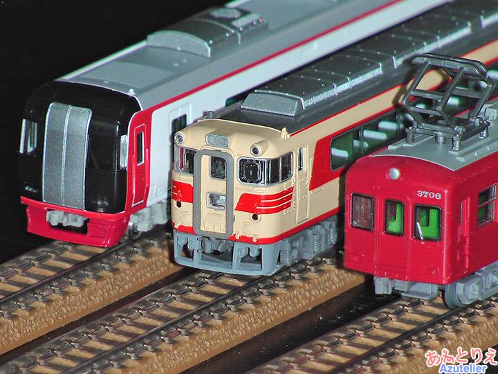 名鉄2200系、名鉄キハ8000系、名鉄3700系