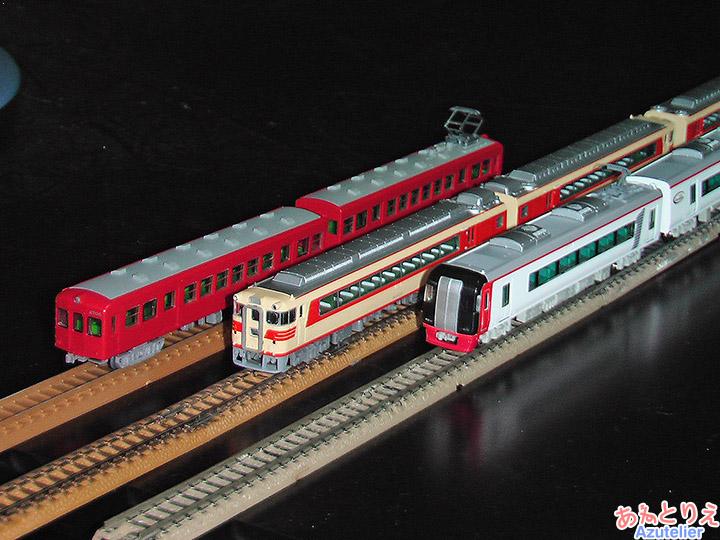 名鉄3700系、名鉄キハ8000系、名鉄2200系