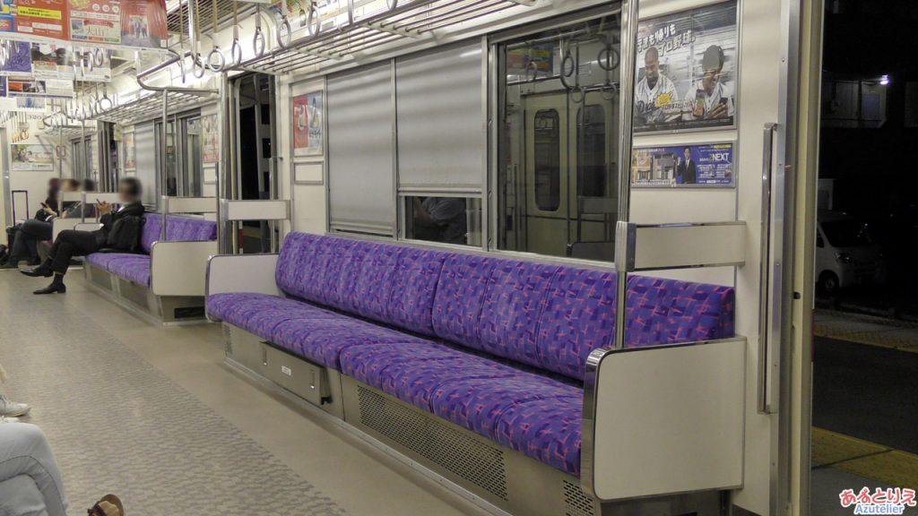 名鉄3100系特急色登場:座席も更新です。