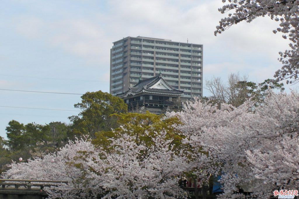 岡崎城(西側)
