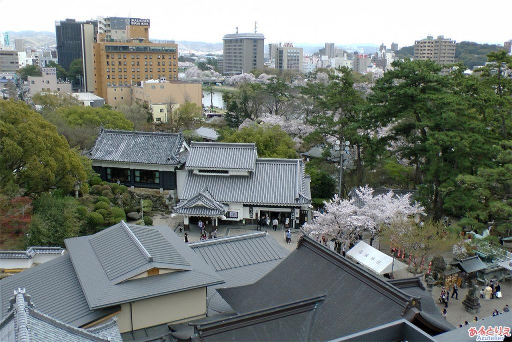 岡崎城からの眺め(東側)