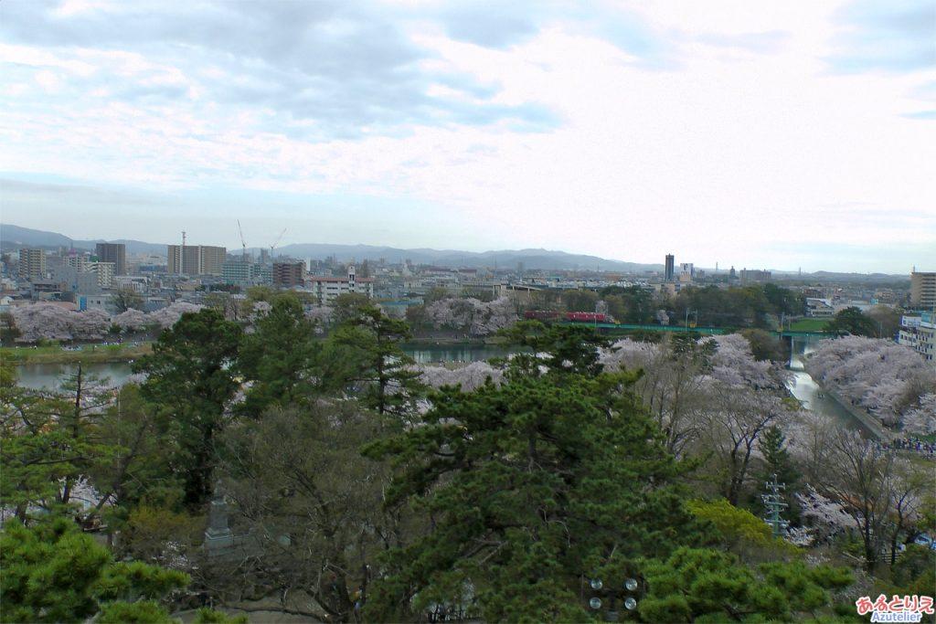 岡崎城からの眺め(南側)