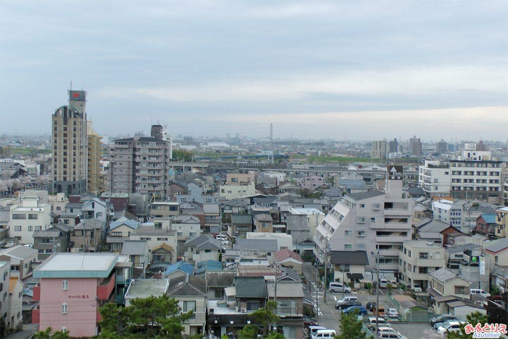 岡崎城からの眺め(西側)