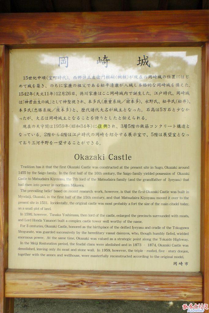 岡崎城説明看板