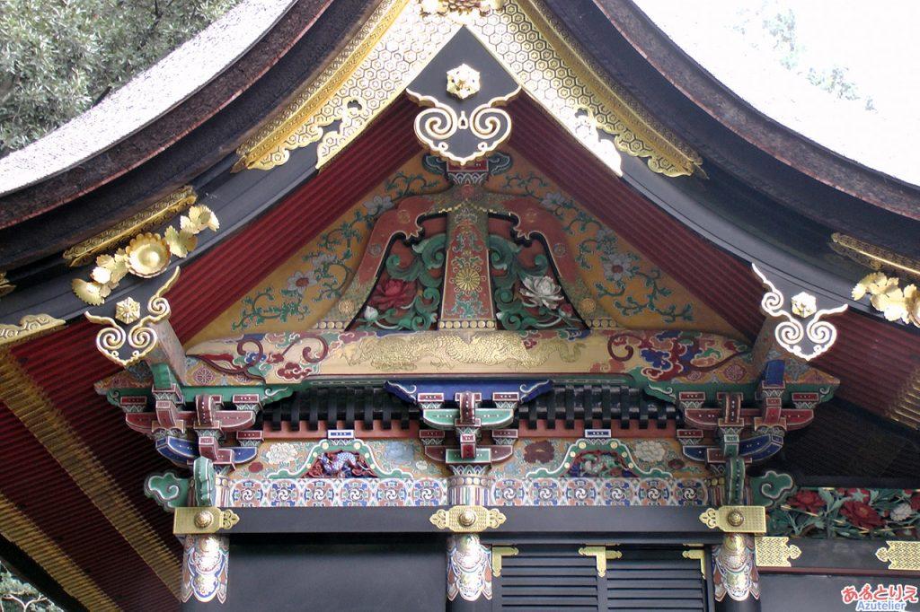 社殿(本殿)の彫刻