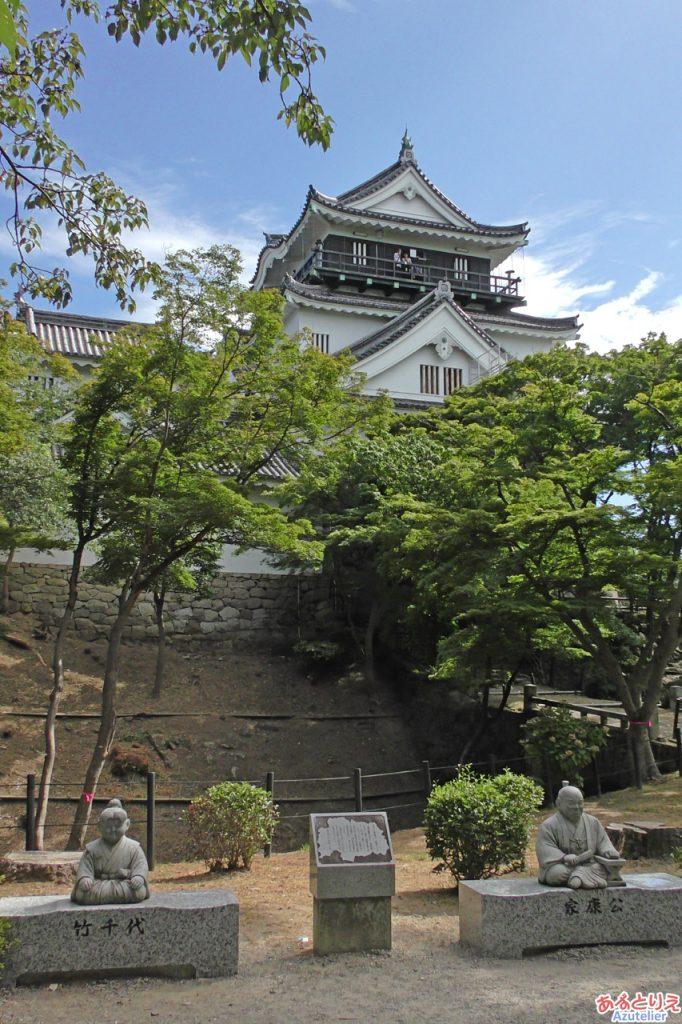 岡崎城(北側)