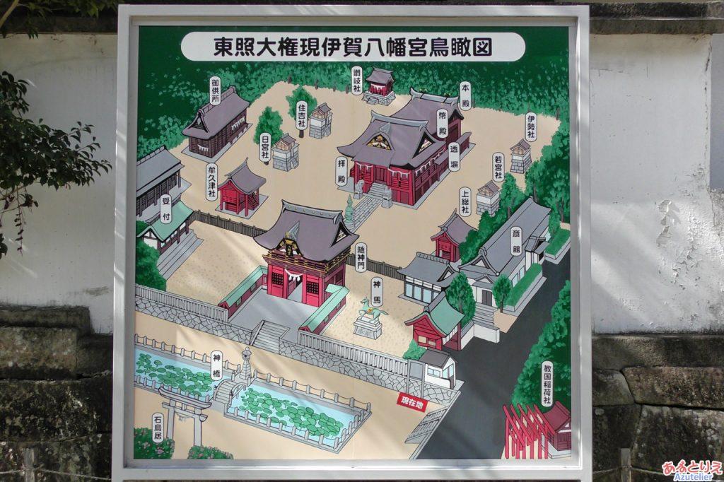 伊賀八幡宮:境内鳥瞰図