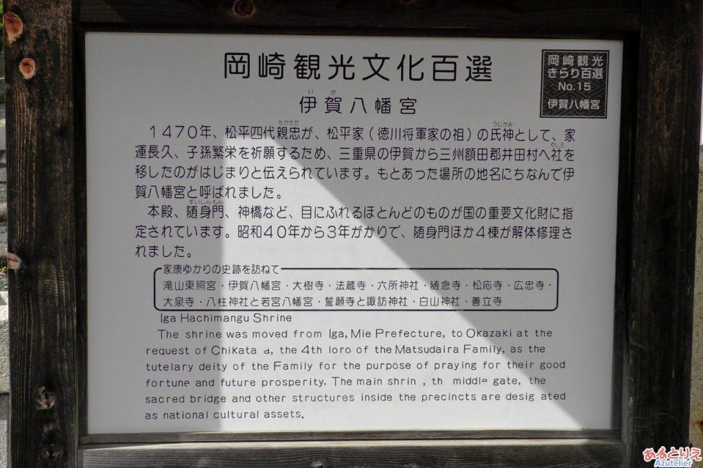 伊賀八幡宮:看板(赤鳥居)