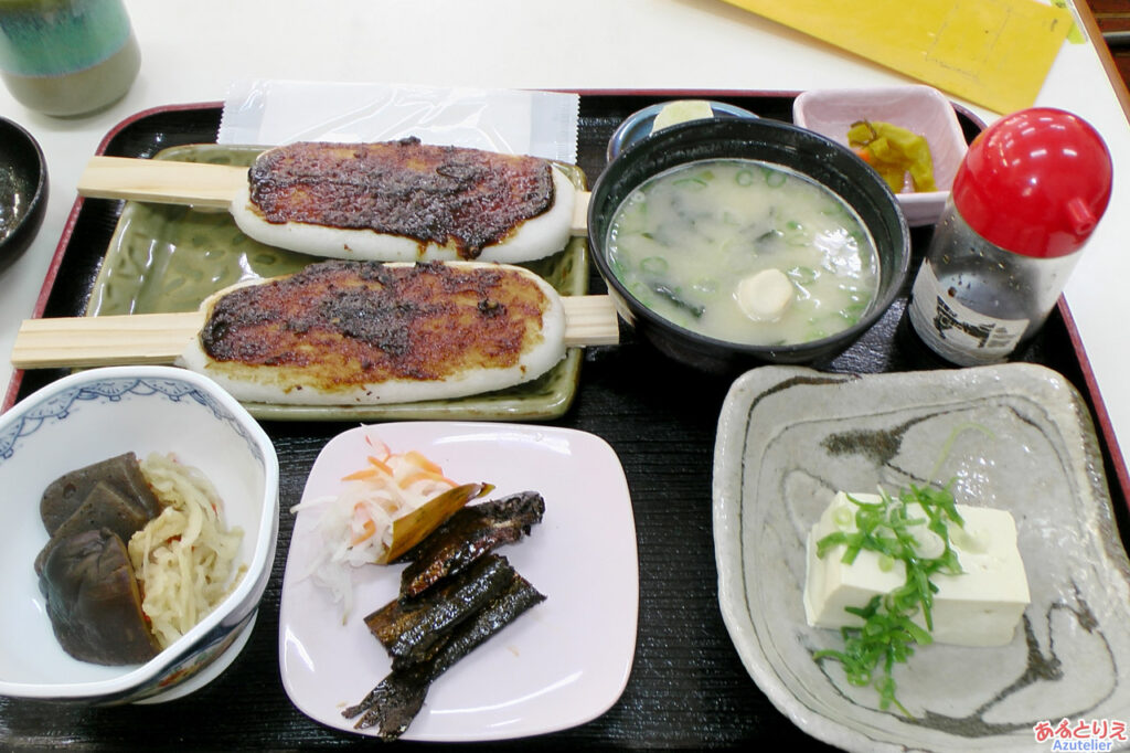 五平餅定食(1100円)