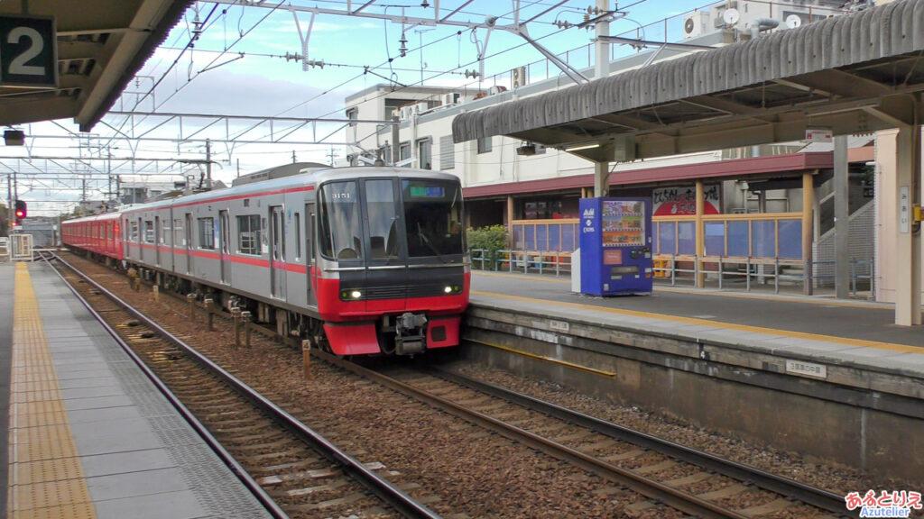 美合駅:反対方向の急行豊川稲荷行き