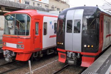 東岡崎駅:2300(2330)系と、特急色の3100系が並んだ!