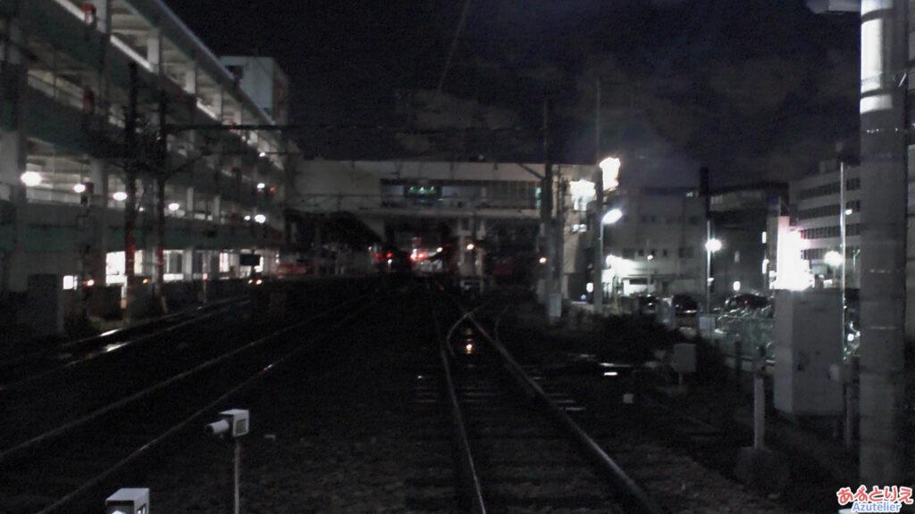 真夜中の東岡崎駅