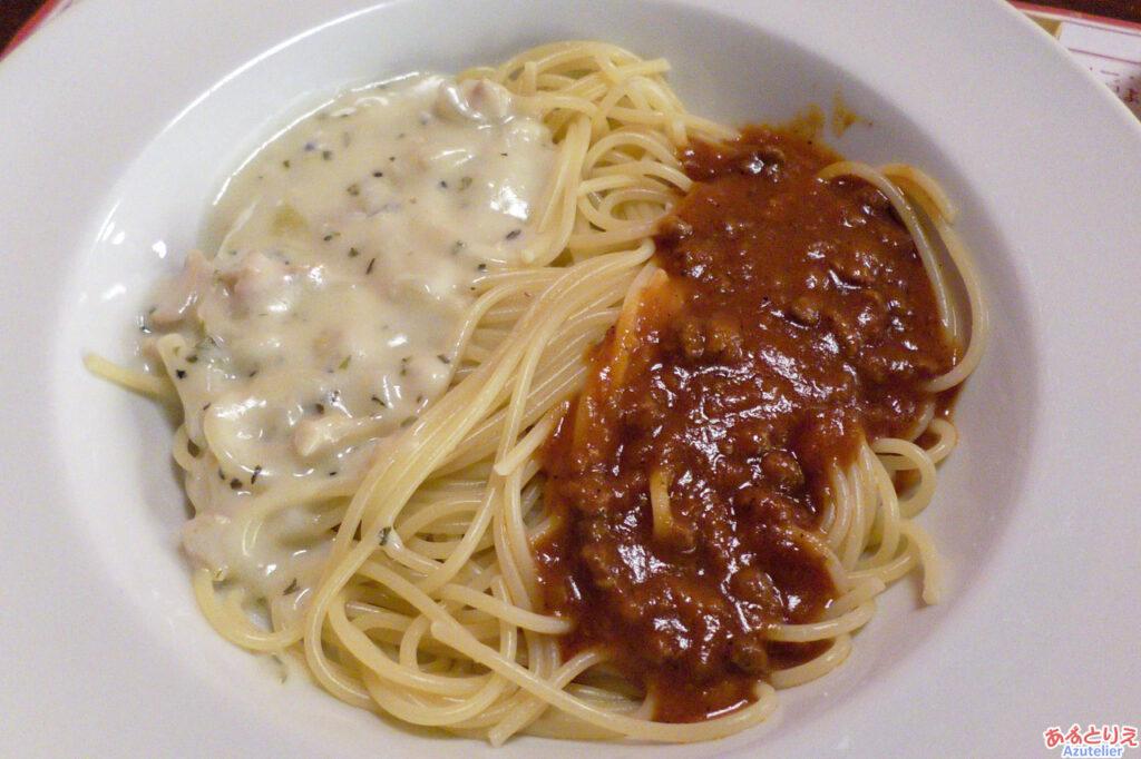 2種類のソース・スパゲティ